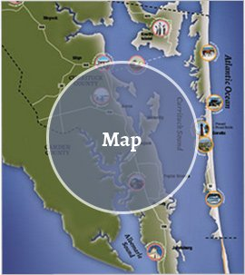 Currituck Outer Banks Travel And Tourism Of North Carolina - Map of northern north carolina