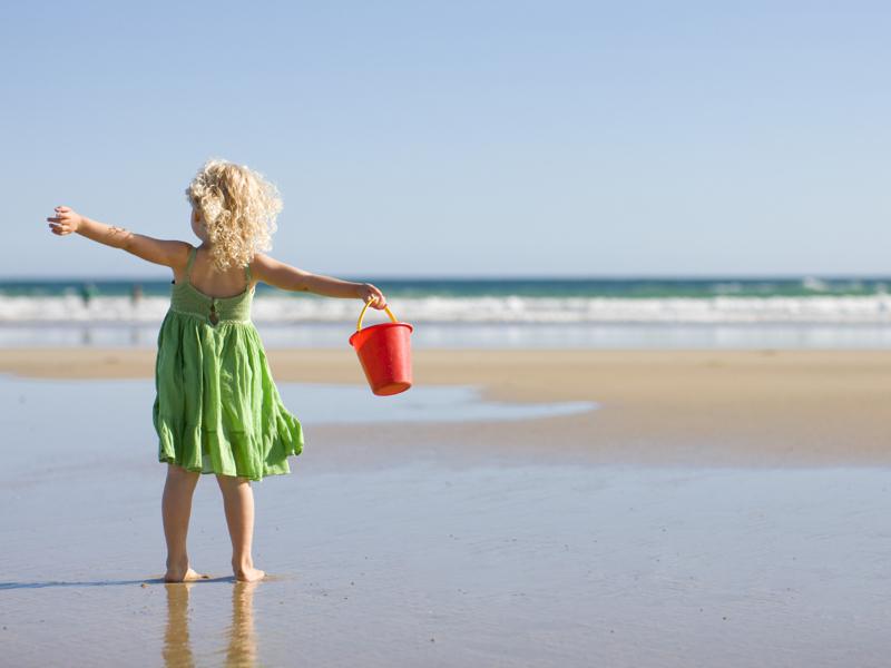 little girl beach