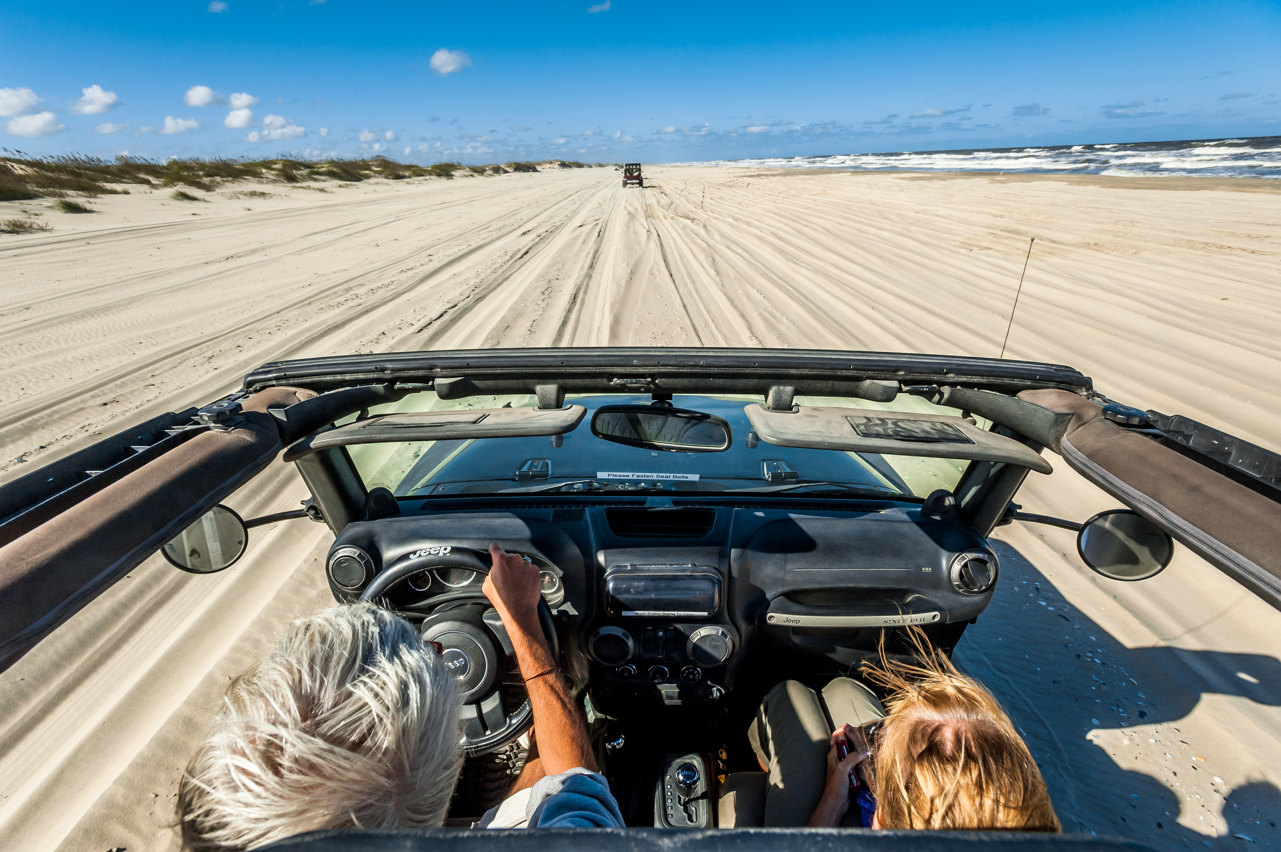 Driving on the sand in Currituck