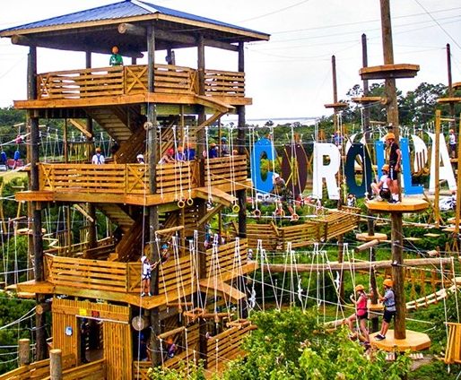 Corolla Adventure Park Is The Northern Outer Banks Premier Aerial Course Featuring 3 Levels With 60 Unique Obstacles Including 6 Zip Lines