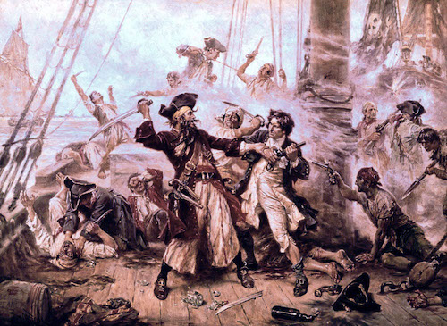 The capture of Blackbeard
