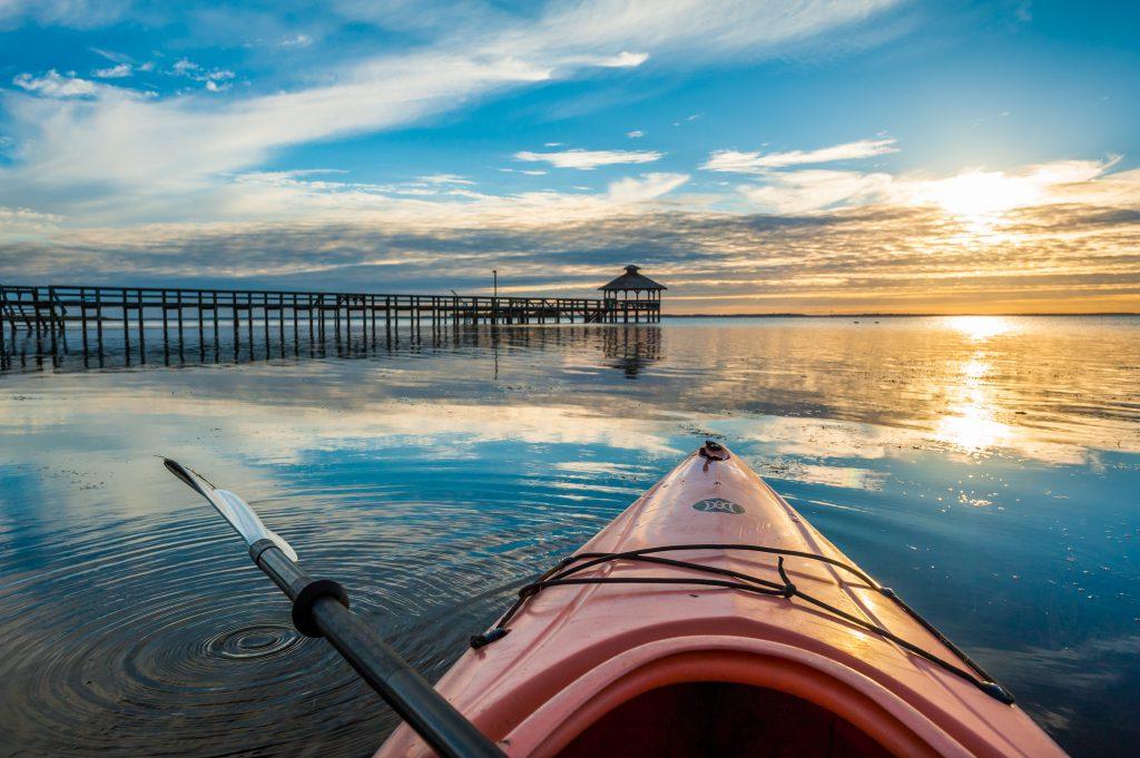 Currituck Sound Outer Banks Kayak Sunset